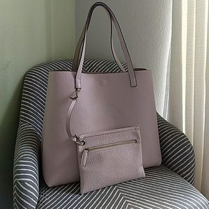 Reversible Faux Leather Pink/Tan Tote